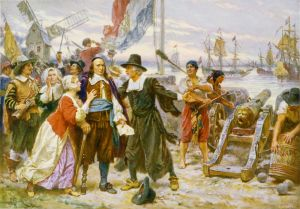 The Fall of New Amsterdam - Jean Leon Gerome Ferris [Public domain or Public domain], via Wikimedia Commons
