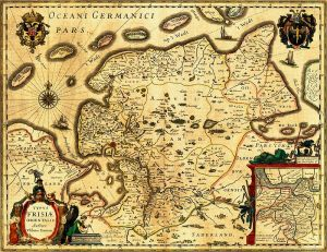Map of Ostfriesland, 1600. Public Domain, because of age.