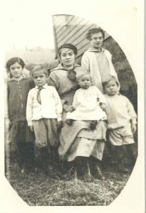 Elsie, far left, with some of her siblings