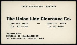George Hackathorn business card