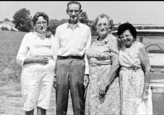 Grandpa and three of his sisters.