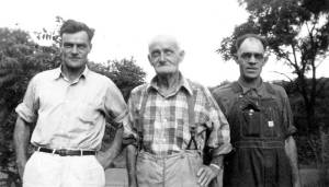 Thomas Hackathorn and sons; George, on left, and Jack on right.