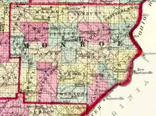 Monroe County 1872