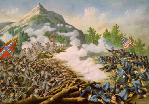 TITLE: Battle of Kenesaw Mountian [i.e., Mountain]--June 27, 1864--Union (Gen. Sherman, com.) ... Conf. (Gen. Johnston, Com.) ... CREATED/PUBLISHED: c1891. by Kurz and Allison This work has been identified as being free of known restrictions under copyright law, including all related and neighboring rights.