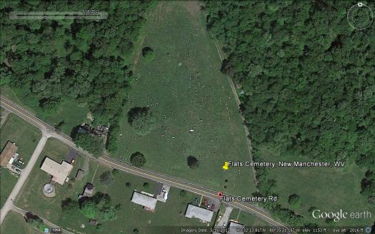 Flats Cemetery (Image from Google Earth)