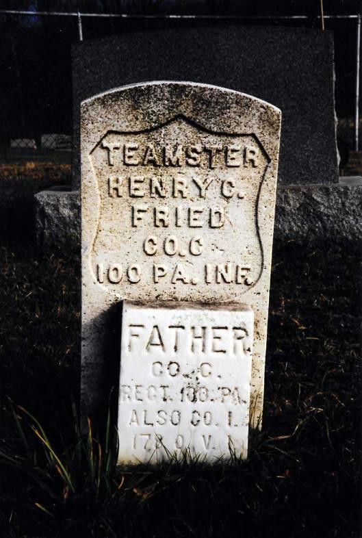 Henry C. Fried, Bergholz Cemetery (Photo credit: Hollie Ann Henke)