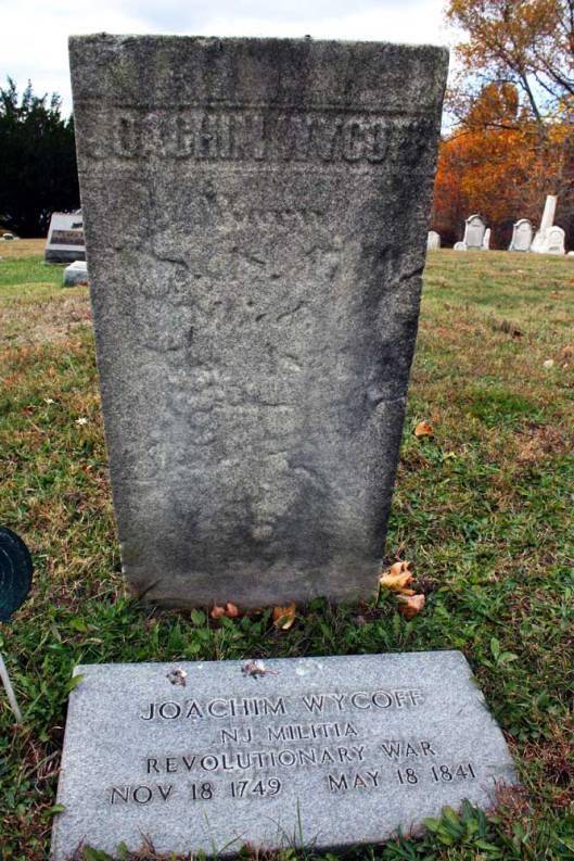 Headstone - Joachim Wycoff, Flats Cemetery (Photo credit: Hollie Ann Henke)
