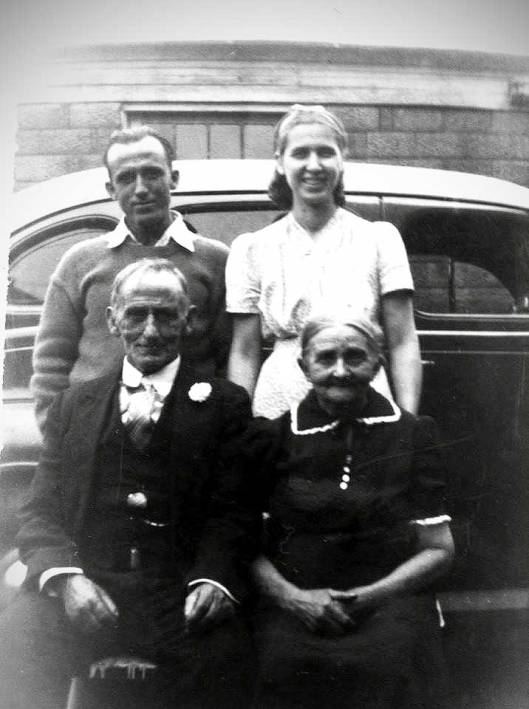 William Grant and Nancy Jane - Front- with son William and his wife, Libby behind. (Photo courtesy of Jeane Moore)
