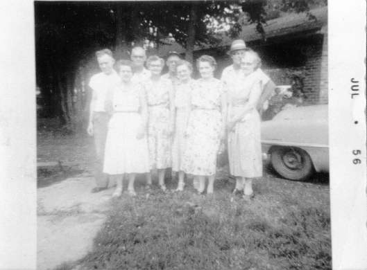 Elsie, second from right, and siblings. 1956