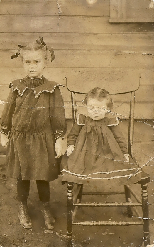 Aunt Goldie, left, and Grandma, right. Circa 1908/09