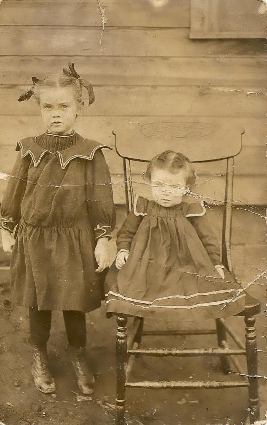 Aunt Goldie, left, and Grandma, right. Circa 1908/09