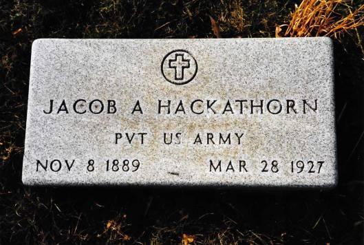 Jacob Andrew Hackathorn , Bergholz Cemetery
