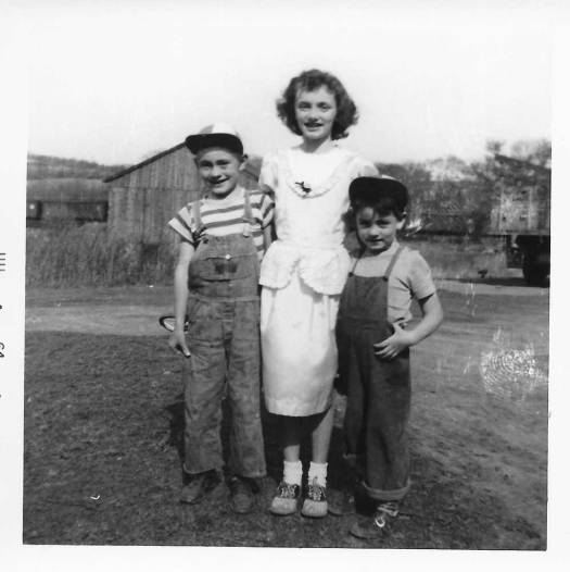 Mom with her two younger brothers, Danny-L, and Rich-R.