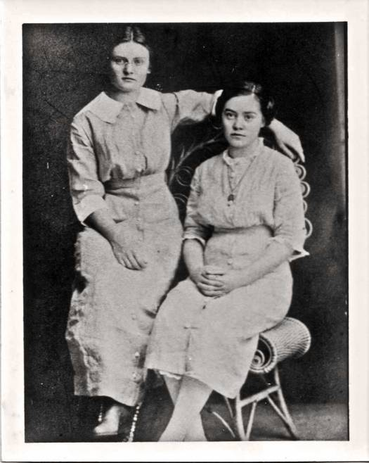 Jennie (right) and sister, Mary (Photo courtesy of Duane Smith)