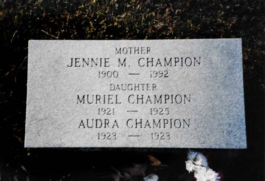 Jennie Marie Hackathorn Champion ~ Bergholz Cemetery