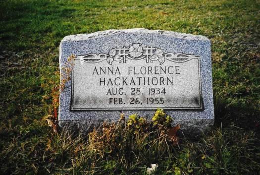 Anna Florence Hackathorn ~ Bergholz Cemetery