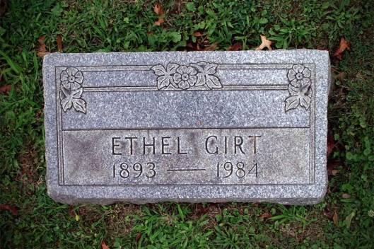 "Effa ""Ethel"" Moore Girt ~ West Lawn Cemetery, Stark County, Ohio"