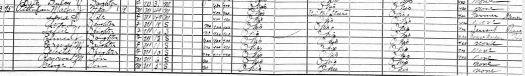 1920 Census Flushing Belmont Ohio