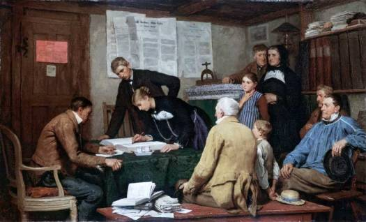 Civil Wedding, Albert Anker [Public domain], via Wikimedia Commons