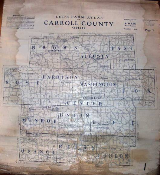 Map of carroll County ~ 1915
