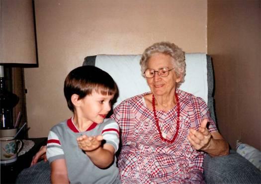 Grandma and my son, Tim circa 1990.