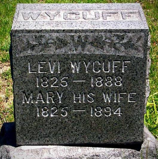 Levi and Mary Earl Wycuff ~ West Grove Cemetery (Photo courtesy of Denny Goddard)