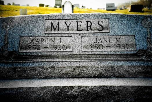 Aaron Jonas Myers ~ Bergholz Cemetery