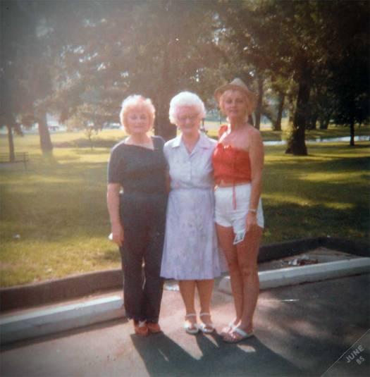 Aunt Ruth, Grandma, and Mom. c1986
