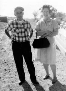 Violet M. Lowe with husband, John Moore.
