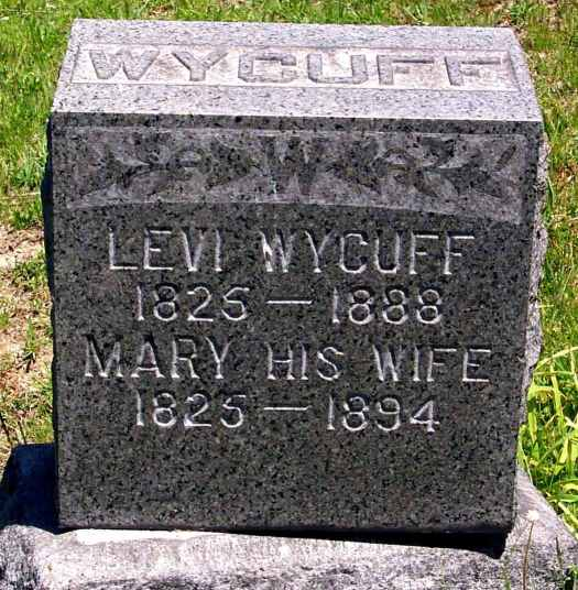 Levi_Mary Wycuff tomb